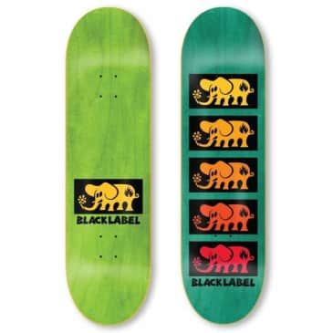 Black Label Skateboards Elephant Stacked Skateboard Deck - 8.25 (Random Colour Wood Stain)