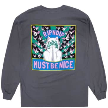 Ripndip Overthinking Long Sleeve T-Shirt - Charcoal