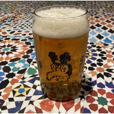 DRUG STORE Beer Can Glass