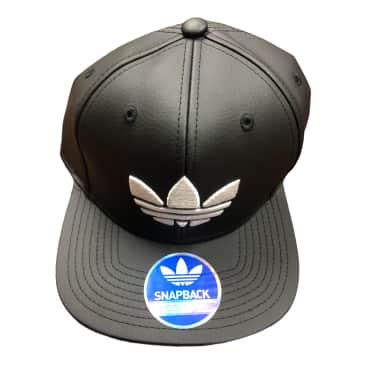 Adidas Ori Materialz Leather Snapback Hat Black