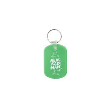 Real Bad Man Guest Key Chain - Green
