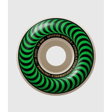 Spitfire Formula Four 101DU Classic Green Skateboard Wheel 52mm