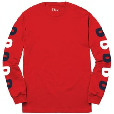 Dime D Long Sleeve T-Shirt - Red