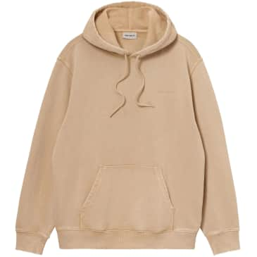 Carhartt WIP Hooded Mosby Script Sweatshirt - Dusty Hamilton Brown