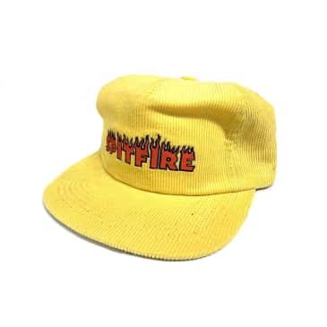 Spitfire Wheels Flash Fire Corduroy SnapBack Hat Yellow