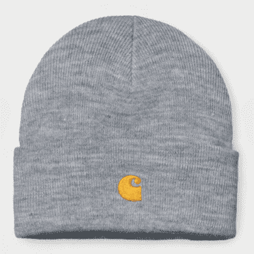 Carhartt WIP - Chase Beanie - Grey Heather/Gold