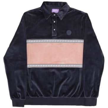 Alltimers J-Waves Velour Top - Navy
