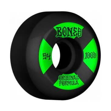 Bones 100's V5 Sidecut Skateboard Wheels - 54mm black