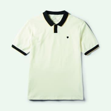 Brixton Proper S/S Polo Knit - Off White