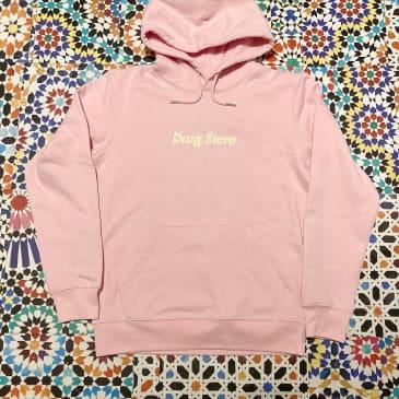 DRUG STORE HOT! logo hood Pink