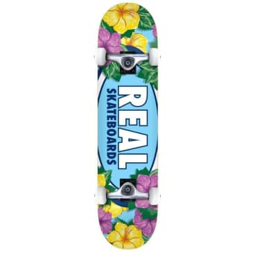 """Real Complete Skateboard Oval Blossoms Multi 8"""""""