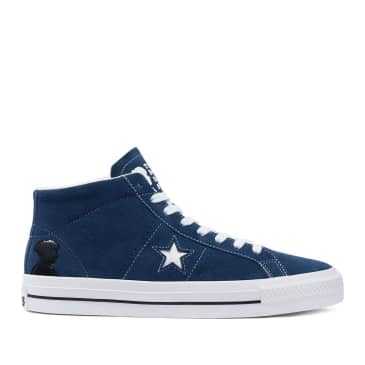 Converse CONS One Star Pro Mid Ben Raemers Foundation Shoes - Navy / White / Black
