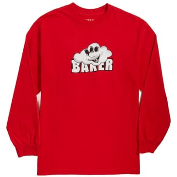 Baker Cloud 3 Red Long Sleeve T-Shirt - Red