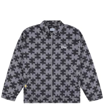 Dime Puzzle Twill Jacket - Charcoal / Black