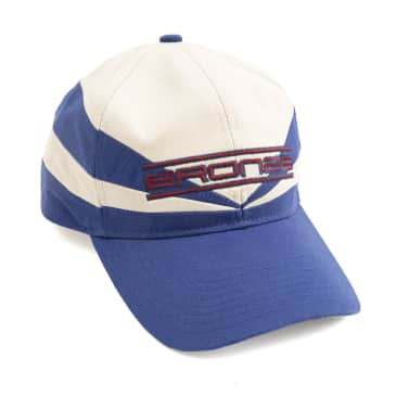 Bronze 56k Sports Snapback Hat - Off White / Blue