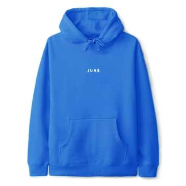 June - PUFF! Mens Hood - Electric Blue, White