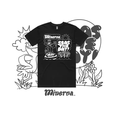 Minerva Seas The Day T-Shirt - Black