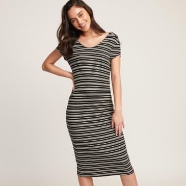 Rvca Womens Interest Knit Midi Dress