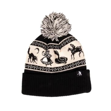 Pass~Port Doily Pompom Beanie - Black