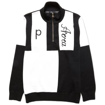 by Parra - Quarter Zip Knitted Pullover - Black