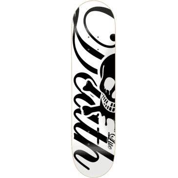 "Death Skateboards Script Lite Deck | White | 8.00"""