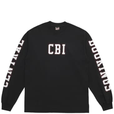 Central Bookings Academy Flat Long Sleeve T-Shirt - Black