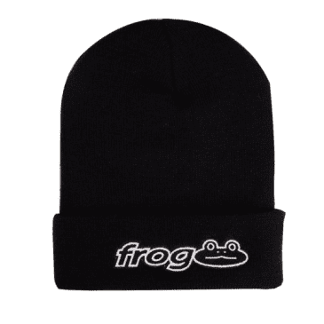 FROG WORKS BEANIE - BLACK
