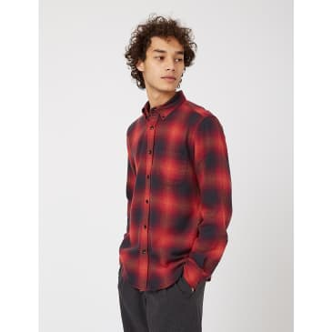 Portuguese Flannel Light My Fire Shirt (Check) - Red