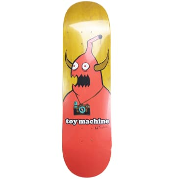 """Toy Machine Templeton Camera Monster Deck   Yellow/Red   8.5"""""""