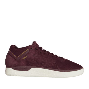 adidas Skateboarding Tyshawn Shoes - Maroon / Chalk White / Gold Metallic