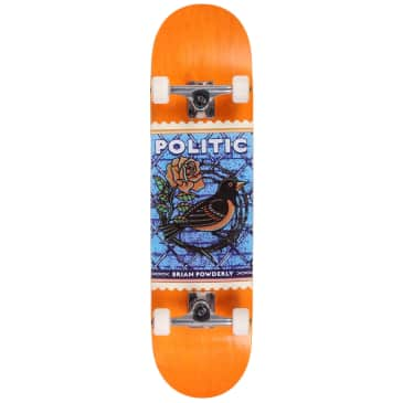 Politic Powderly Stamp Standard Complete Skateboard 8.12 (With Free Skate Tool)