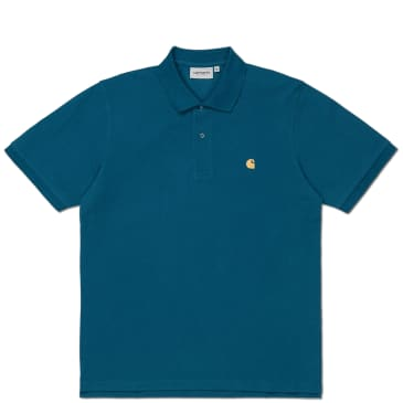 Carhartt WIP Chase Pique S/S Polo - Corse / Gold