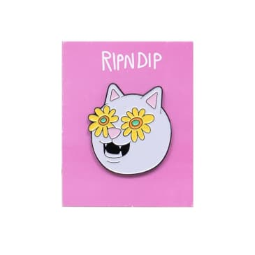 Ripndip Flower Belly Pin Badge