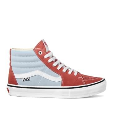 Vans Skate Sk8-Hi Shoes - Blue / Brown