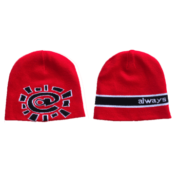 always do what you should do Reversible No Cuff Beanie - Red