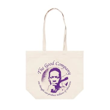 The Good Company - Vibrations Tote Bag - Natural / Purple