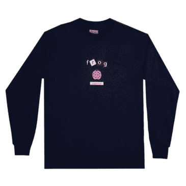 Frog Skateboards Ladybug Long Sleeve T-Shirt - Navy