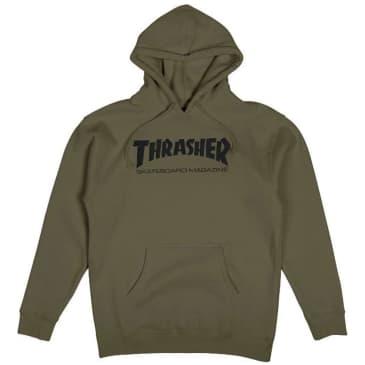 Thrasher Skate Mag Hoodie - Army Green