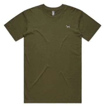 Black Sheep Embroidered Icon Tee Army Green