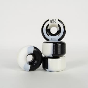 Welcome Skateboards - 54mm (99a) Orbs Apparitions Splits Wheels - Black / White