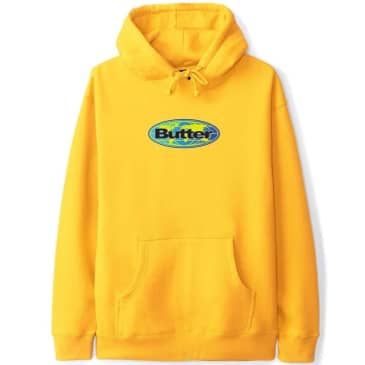 Butter Goods Global Logo Pullover Hoodie - Gold