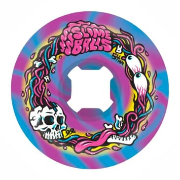 Santa Cruz Skateboards - Slime Balls Brains Speed Balls Swirl 99A 54MM