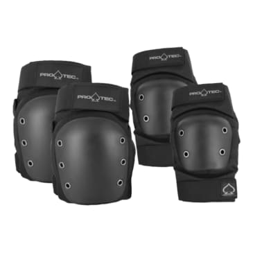 Pro-Tec Street Knee and Elbow Pad Set Black