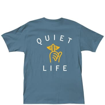 The Quiet Life Shhh Logo T-Shirt - Slate