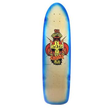 Dogtown OG PC Tail Tap Classic Skateboard Deck Natural/Neon Blue Fade - 8.375