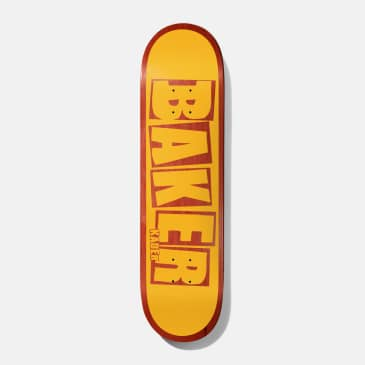 Baker Skateboards Kader Brand Name Yellow / Red Skateboard Deck - 7.875