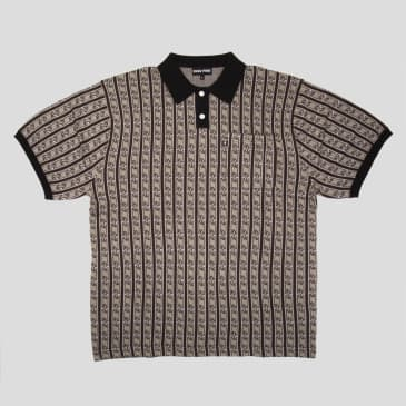 """PASS~PORT """"TILDE"""" KNITTED POLO GREY"""