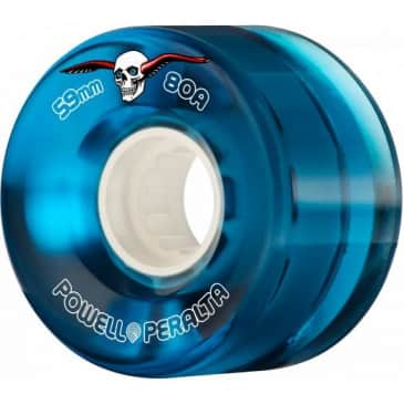 Powell Peralta Clear Cruiser Wheels 80a - Blue 59mm