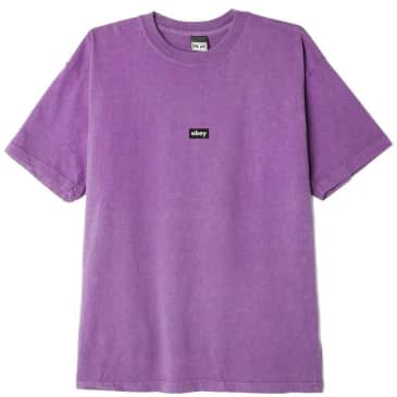 OBEY Black Bar T-Shirt - Orchid