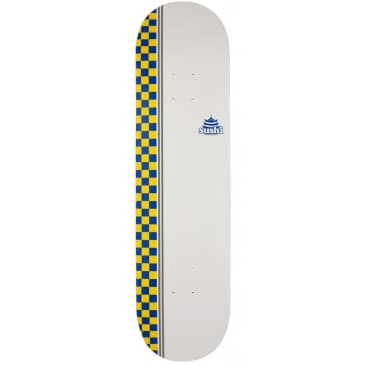 Sushi Skateboards Checker Logo Deck | White | 8.125""